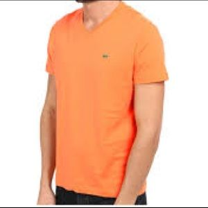 Men's orange Pima Cotton Lacoste t-shirt XL